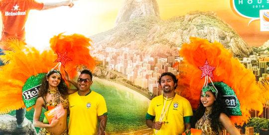 Holland Heineken House Batucada en Samba danseressen