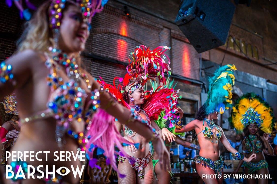 Samba danseressen in Amsterdam bij The Perfect Barshow